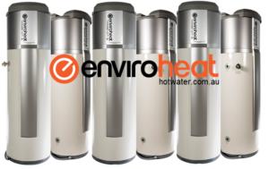 Envirosun solar hot water and Enviroheat heat pump